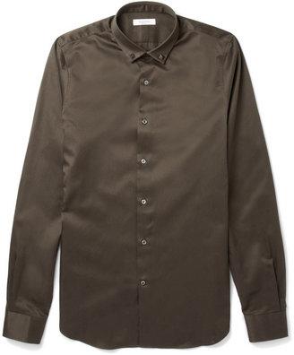 Valentino Collar-Stud Cotton-Twill Shirt