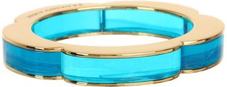 Juicy Couture Skinny Lucite Bangle Bracelet (Neon Blue) - Jewelry