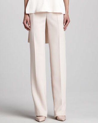 ADAM by Adam Lippes Straight Wide-Leg Pants, Blush