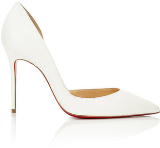 Christian Louboutin Women's Iriza Half D'Orsay Pumps $675 thestylecure.com