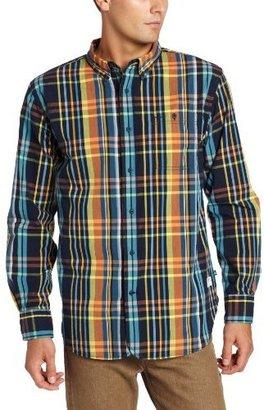Nautica Men's Long Sleeve Vineyard Poplin Madras Shirt
