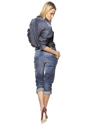 DSquared Stretch Cotton Denim Jumpsuit