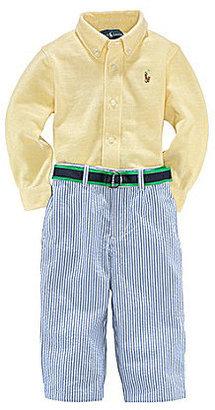Ralph Lauren Infant Oxford Shirt & Seersucker Pant Set