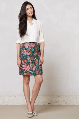 Anthropologie Embroidered Fiore Pencil Skirt
