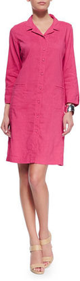 Eileen Fisher Linen Viscose Stretch Shirtdress, Gingerpink $338 thestylecure.com