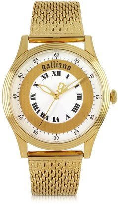 John Galliano Only Time Gold Tone Stainless Steel Women's Watch