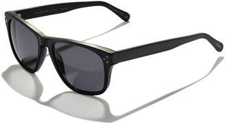 Oliver Peoples DBS Polarized Square Frame Sunglasses, Black