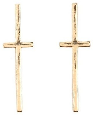 Charlotte Russe Metallic Cross Stud Earrings