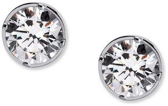 Crislu Earrings, Platinum Over Sterling Silver Bezel Set Round Cut Cubic Zirconia Stud Earrings (4 ct. t.w.)