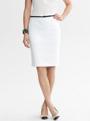 Banana Republic White Sateen Pencil Skirt