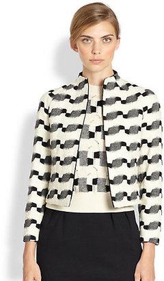 Akris Wool-Blend Jacquard Jacket
