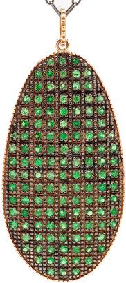 Ileana Makri Pink Gold Shield Necklace