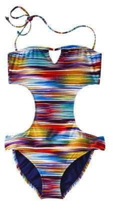 Mossimo Women's Striped Monokini -Multicolor