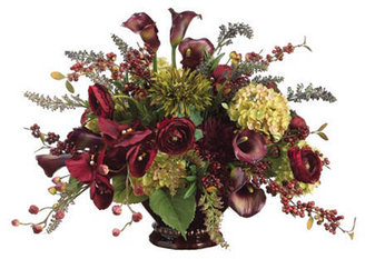 """CALLA Allstate Floral 19"""" Berries & Lily in Vase"""