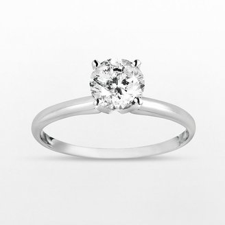 14k White Gold 1-Ct. T.w. Round-Cut Diamond Solitaire Ring