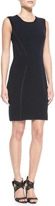Diane von Furstenberg Sleeveless Body-Conscious Blend Dress