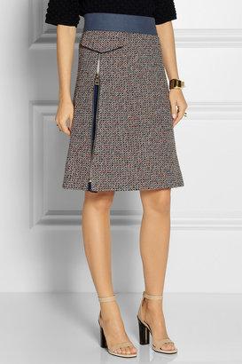 Chloé Wool-blend tweed A-line skirt
