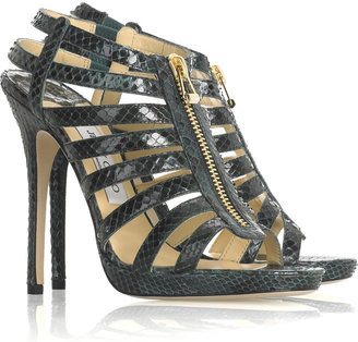 Jimmy Choo Glenys python sandals