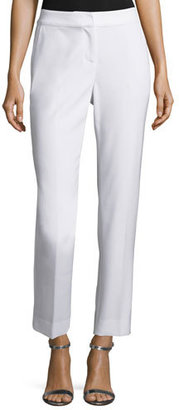 St. John Collection Stretch Poly Viscose Cropped Emma Pant with Pockets $395 thestylecure.com
