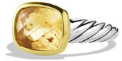 David Yurman Noblesse Ring with Champagne Citrine with Gold