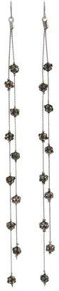 GUESS 2 Strand Station Linear Earring (Hematite/Black Diamond) - Jewelry