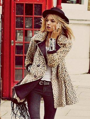 Free People Leopard Swing Coat