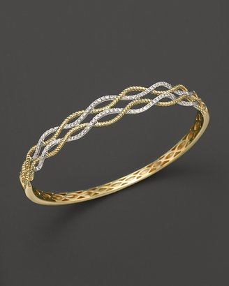 Bloomingdale's Diamond Swirl Bangle in 14K Yellow and White Gold, .50 ct. t.w.