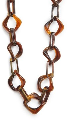 MANGO Outlet Tortoiseshell Effect Link Necklace