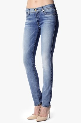 7 For All Mankind Roxanne Original Skinny In Super Sanded Blue
