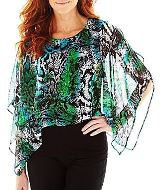 JCPenney Pat Rego Draped Blouse with Tank Top