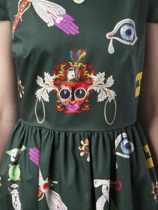 Mary Katrantzou Short Sleeve Cotton Dress