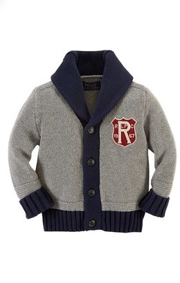Ralph Lauren Shawl Collar Cardigan (Baby Boys)