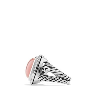 David Yurman Albion Ring with Guava Quartz and Diamonds
