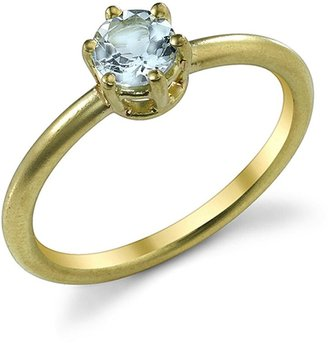 Irene Neuwirth Brilliant Cut Fine Aquamarine Ring