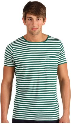 French Connection Livingstone Stripe Tee (Spruce) - Apparel