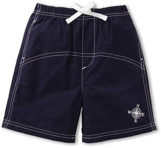 Le Top Anchors Aweigh Woven Swim Trunks (Infant/Toddler/Little Kids) (Navy) - Apparel