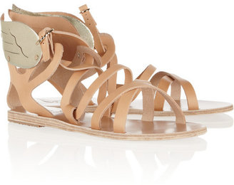 Ancient Greek Sandals Nephele leather wing sandals