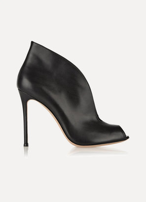 Gianvito Rossi Vamp 105 Leather Ankle Boots
