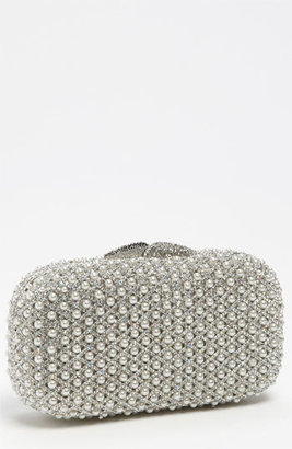Natasha Couture Pearl Caged Clutch