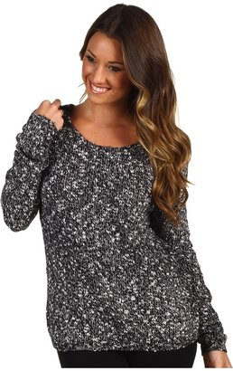 PJ Salvage Stay the Night Marled Pullover (Smoke) - Apparel