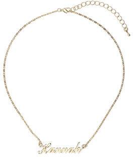 Topshop Hannah name necklace
