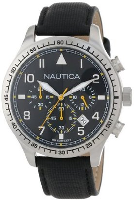 Nautica Unisex N16577G BFD 105 Stainless Steel Chronograph Watch $165 thestylecure.com