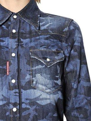 DSquared Camouflage Cotton Denim Shirt