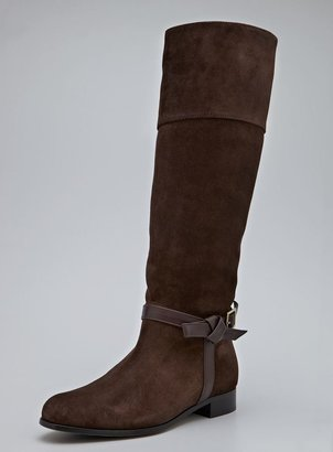 philosophy High Suede Riding Boot