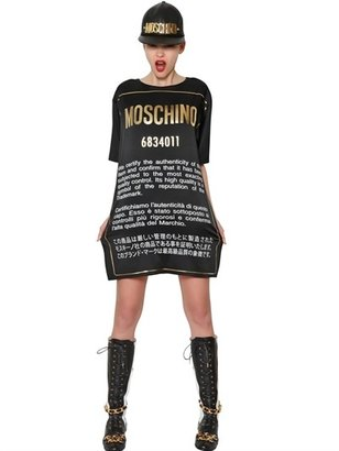 Moschino Printed Satin Cady Dress