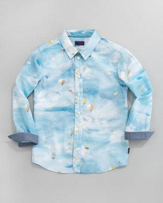 Paul Smith Deon Balloon-Print Shirt, Sizes 8-10