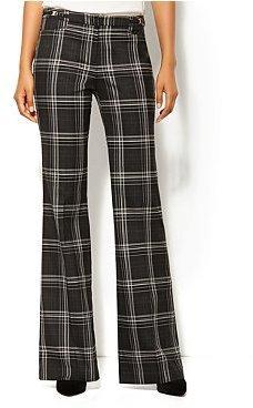 New York & Co. 7th Avenue Wide Leg Pant - Plaid - Tall