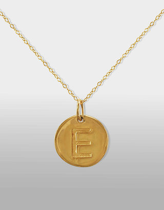 """Lord & Taylor 14 Kt. Gold Initial """"E"""" Pendant Necklace"""