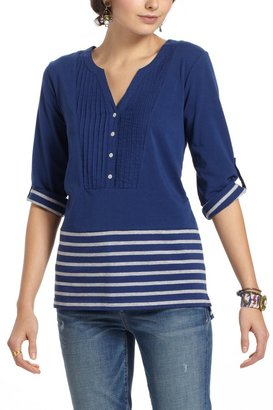 Anthropologie Stowaway Pleated Henley