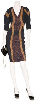 Etro Black-Multi Sheath Dress